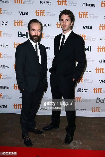 Writers/Directors Adam Brooks and Matthew Kennedy attend The Editor premiere during the 2014 Toronto International Film Festival at Ryerson Theatre...