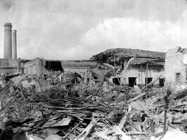 v 2 damage c1945 pictures getty images