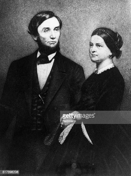 Abraham Lincoln and his wife Mary Todd Lincoln in an illustration done shortly after they moved into the White House He was President from