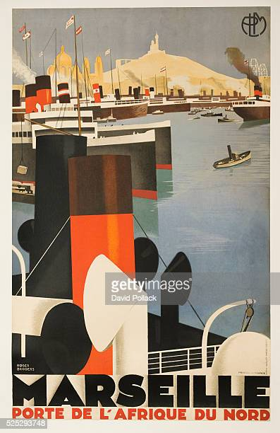 ca 1930s Lithograph by Lucien Serre Cie illustrated by Roger Broders