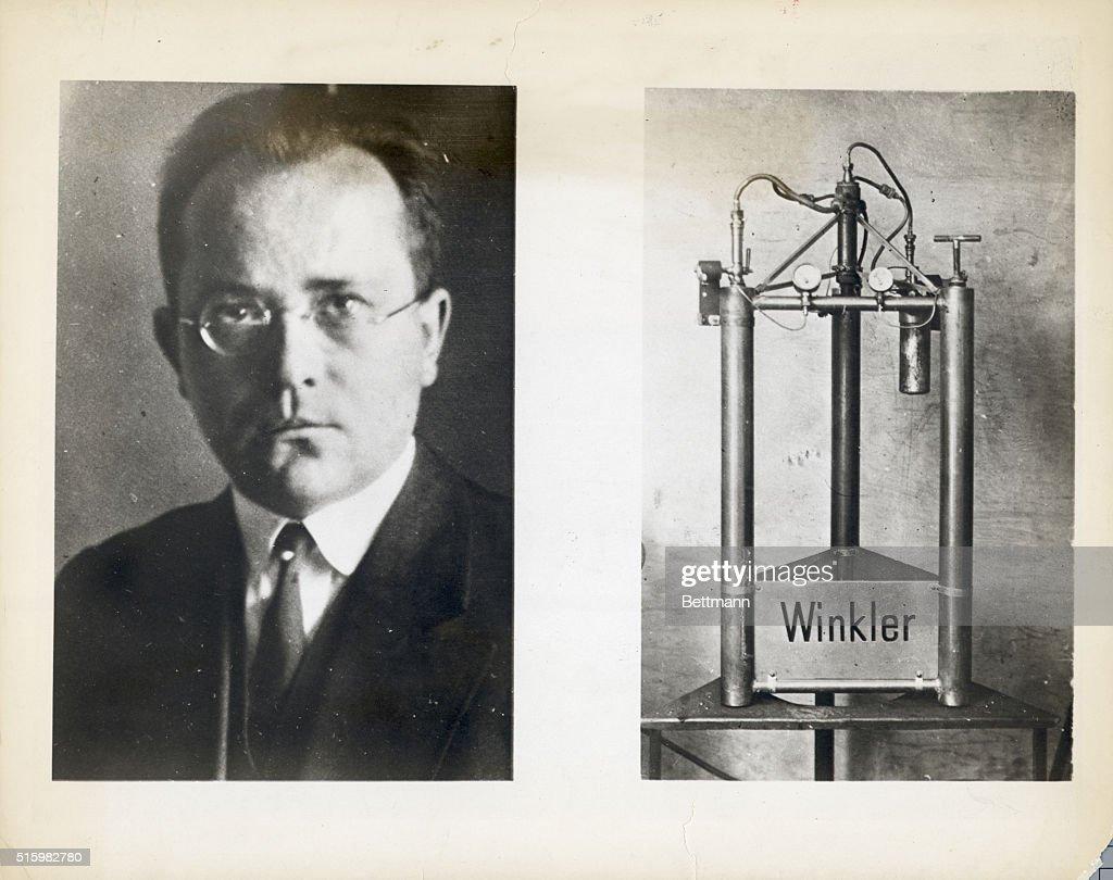 Ca  1931-1940- Inventor Johanes Winkler of Dessau invented a