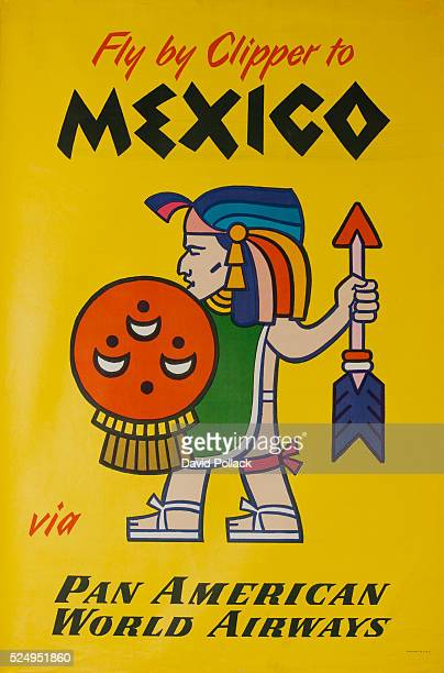 ca 1960s travel poster with shieldbearing native who is holding spear