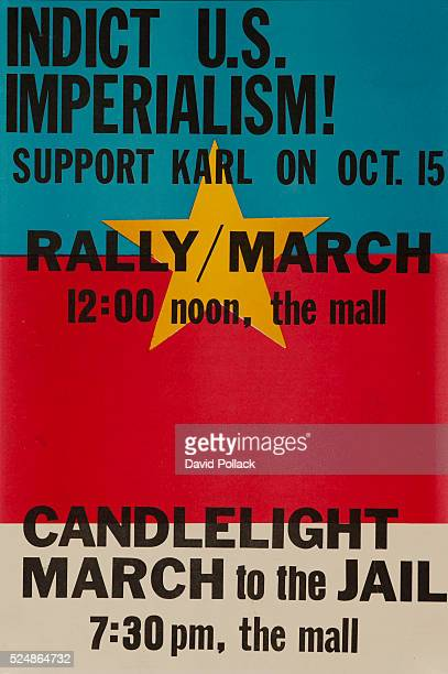 ca 1972 poster offering support for Karl Armstrong bomber of Univ Of Wisconsin Army Mathematics Research Center