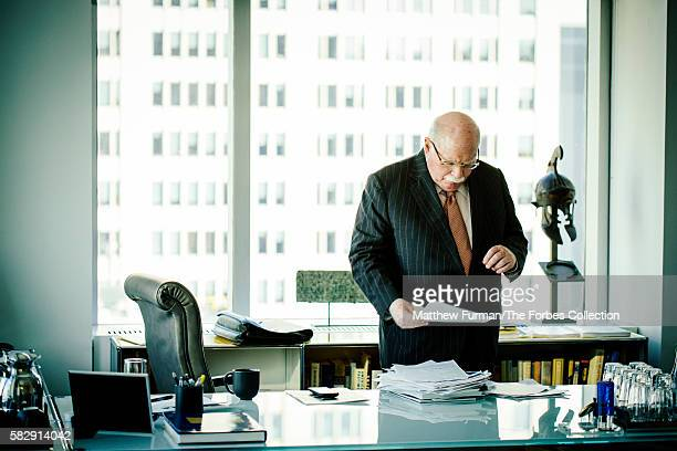 Michael Steinhardt in his offices on Manhattan's Fifth Avenue