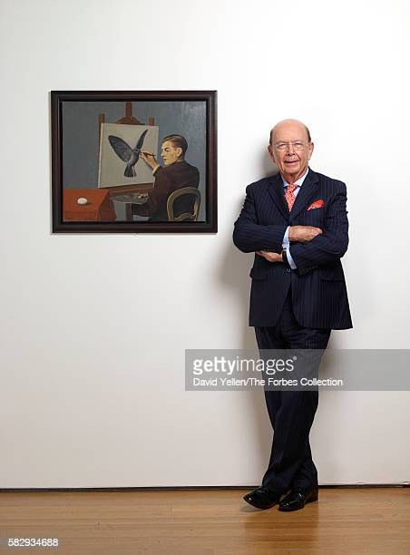 Wilbur Ross with René Magritte's <La Clairvoyance> One of many works in his $100 million collection of the artist's work