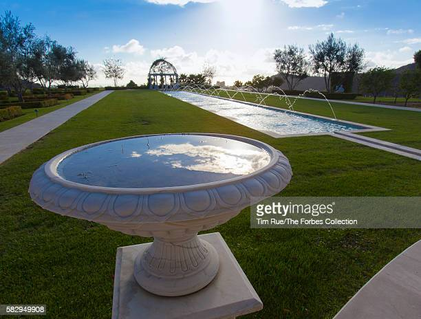 Palazzo di Amore owned by Jeff Greene The 128footlong reflecting pool with fountains cascading its entire length leads the way to a pergola at the...