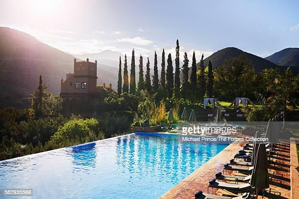 Richard Branson's Moroccan resort Kasbah Tamadot in the Atlas Mountains
