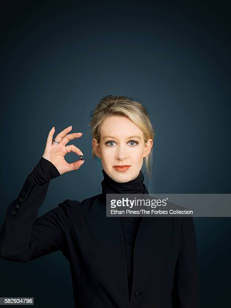 Theranos founder and CEO Elizabeth Holmes is photographed for Forbes Magazine on September 22 2014 on the Theranos campus in Palo Alto California...