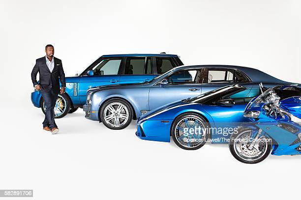 From left Jackson's 2011 Range Rover 2012 Bentley Mulsanne 2005 Lamborghini Murcielago and 2012 Yamaha YZFR1 motorcycle