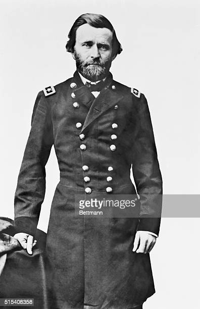 Ca1860sUlysses S Grant as an officer Photographed standing in the studio in military uniform by Matthew Brady