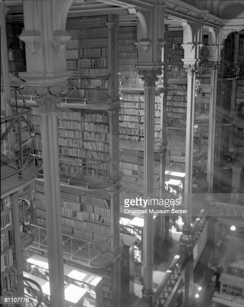Designed by architect James W. McLaughlin, the Public Library of Cincinnati was dedicated in 1874. Cincinnati, Ohio, 1955.