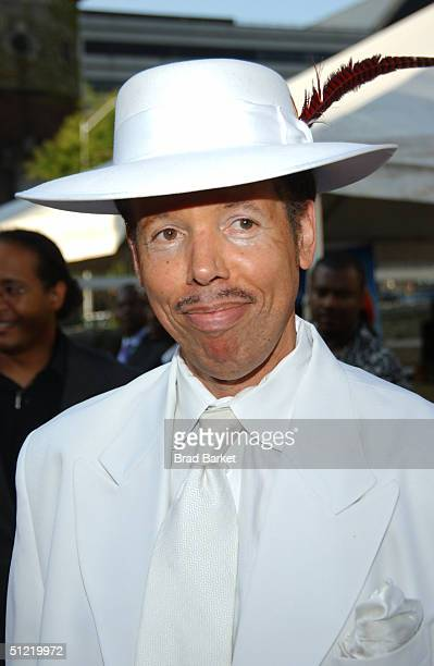 Cab Calloway III arrives at the National Black Sports and Entertainment Hall of Fame at Aaron Davis Hall on August 25 2004 in New York City