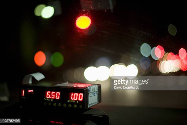 cab meter - fare stock pictures, royalty-free photos & images