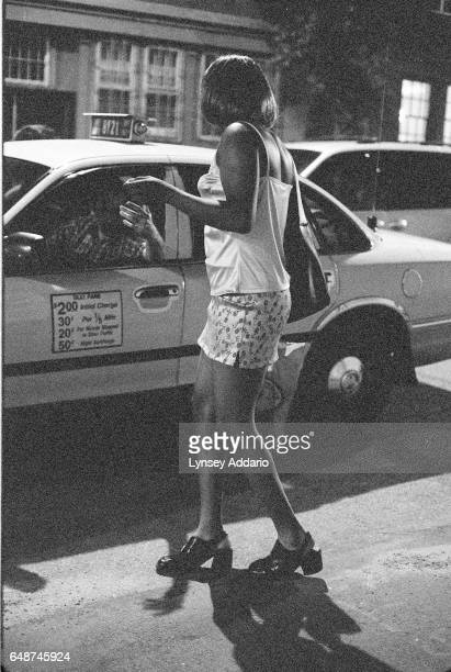 A cab picks up a transgendered prostitute in the meatpacking district in New York City in 1999 Although cab drivers complain that transgendered...