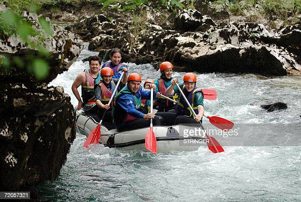 People enjoy rafting on Croatia's Kupa river in Cabar, Croatia, 30 September 2006. As another record year in both number of tourists and revenues...