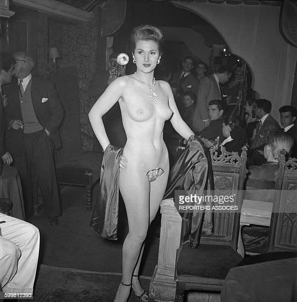 Cabaret in Pigalle in Paris France circa 1950