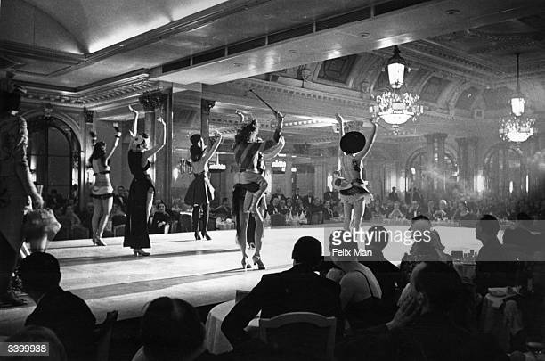 A cabaret show at the Savoy Hotel London Original Publication Picture Post 488 Savoy Hotel unpub