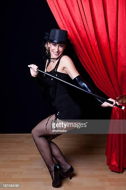 Cabaret Showgirl on Stage