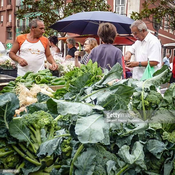Cabbage in a farmers market Caldas da Rainha Portugal