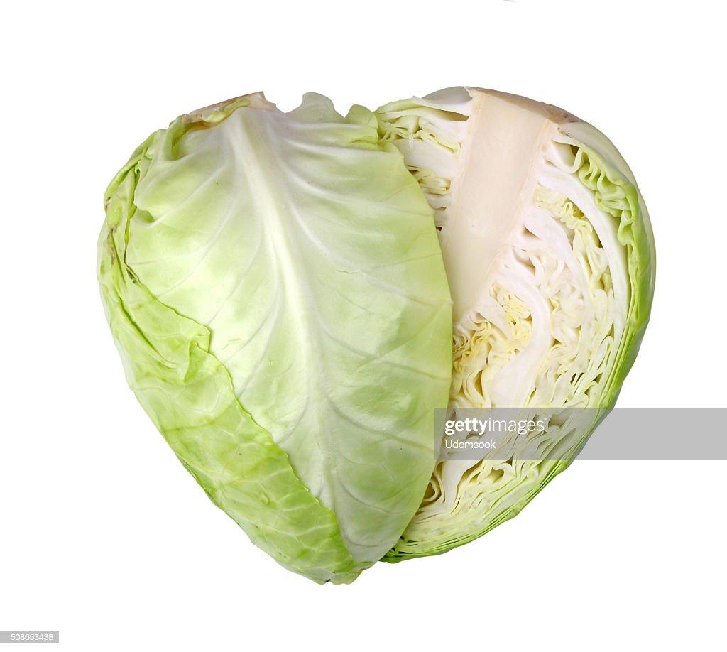 cabbage isolated on white background : Stock Photo