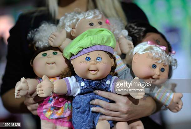 Cabbage Patch Kids at the launch of Dream Toys 2012 at St Mary's Church on October 31 2012 in London England