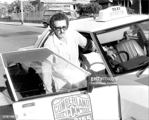 Cabbie Allan Stemp of Seven Hills helps Mrs Alice Dolan 75 of Summer Hill with a cuppa at her home today November 17 1983