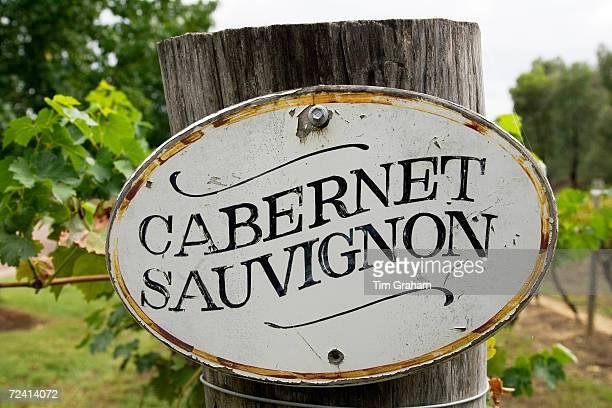 Cabernet Sauvignon sign in the Pepper Tree Winery Hunter Valley Australia