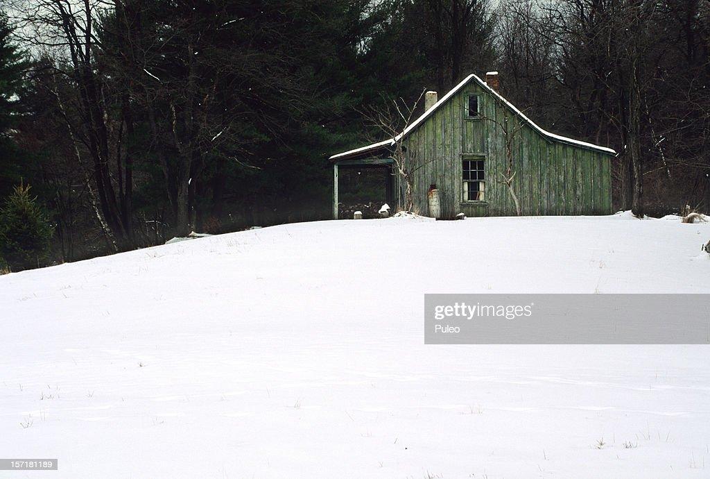 Cabin in Winter : Stock Photo