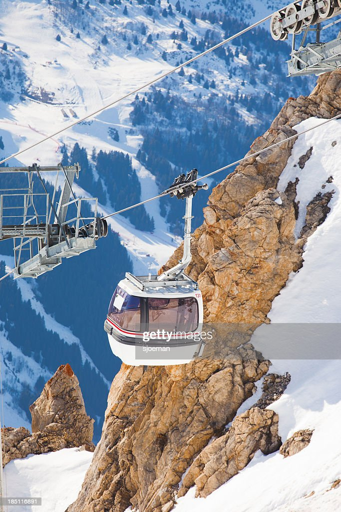 Cabin lift in France : Stock Photo
