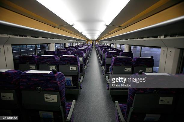 A cabin of a CRH 'bullet train' is seen at Shanghai South Railway Station January 28 in Shanghai China China's bullet train the nation's fastest...