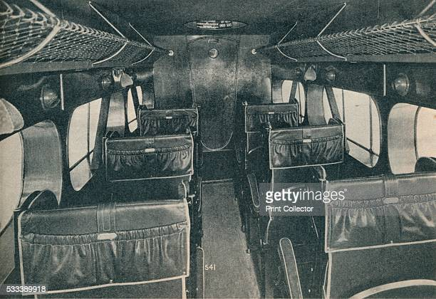 Cabin of a De Havilland DH86B biplane' from 'Wonders of World Aviation Vol 1' by Clarence Winchester c1937 View inside the cabin of a De Havilland...