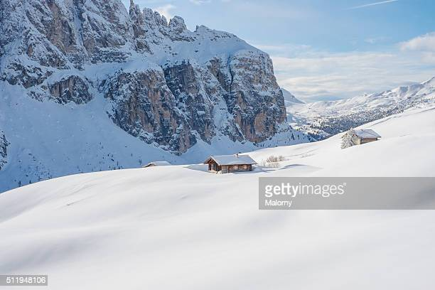 Cabin Retreat Snowscape. Get away ski weekend. Dolomites