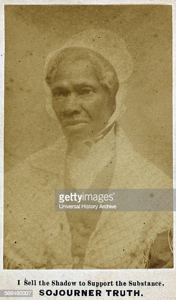 Cabinet card of Sojourner Truth an AfricanAmerican abolitionist and women's rights activist Dated 1865
