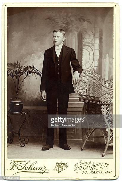 A cabinet card photograph of a welldressed young man circa 1890 from the studio of photographer F Schanz in Fort Wayne Indiana Cabinet cards with...