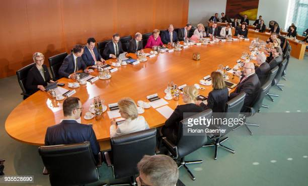 Cabinet Meeting of the Federal Government with German Chancellor Angela Merkel the ministers and state ministers on March 21 2018 in Berlin Germany