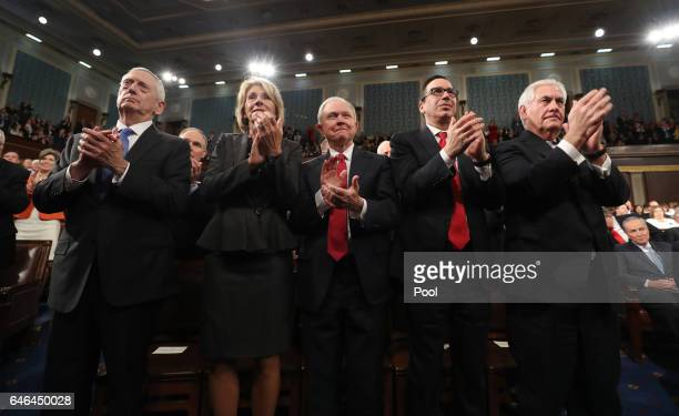 Cabinet members Secretary of Defense James Mattis Secretary of Education Betsy DeVos Attorney General Jeff Sessions Secretary of the Treasury Steve...