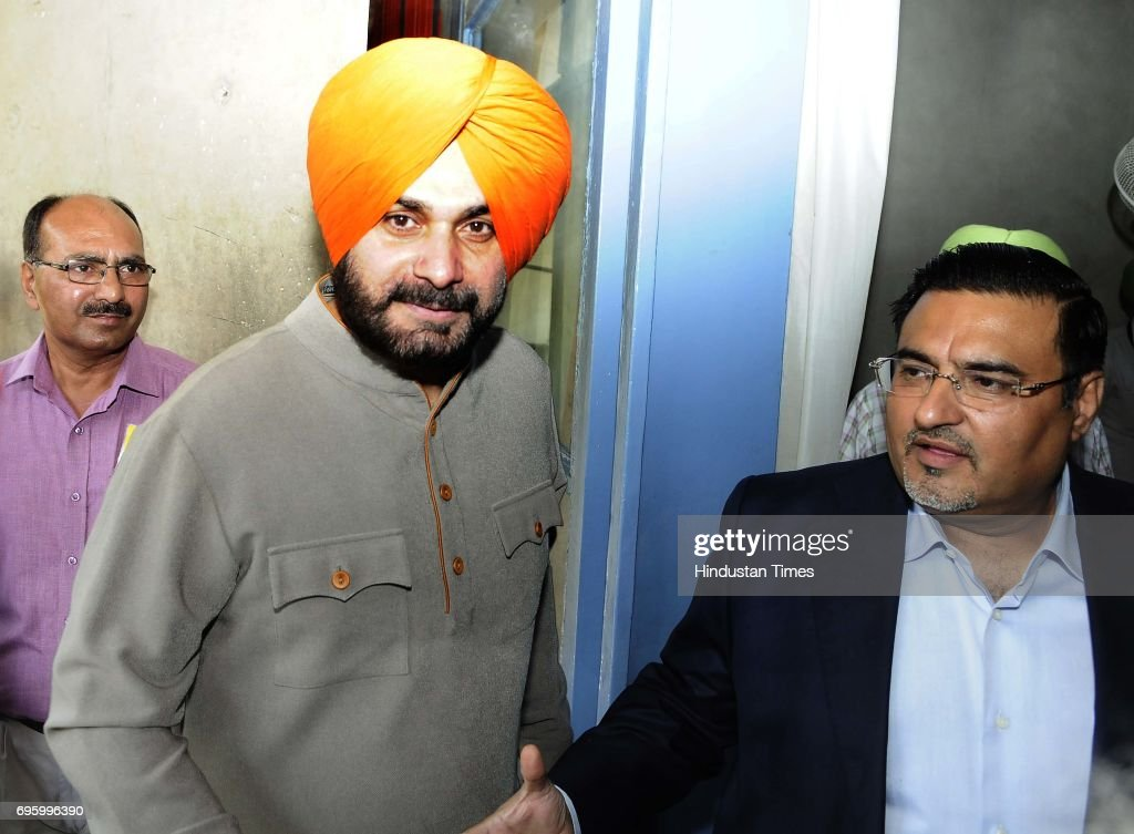 Cabinet minister Navjot Singh Sidhu at Punjab Vidhan Sabha Session on June 14 2017 in Chandigarh India On the first day of the budget session Punjab..