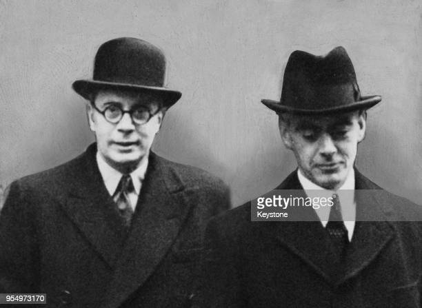 Cabinet Ministers Oliver Stanley and William Morrison arrive at 10 Downing Street in London for a cabinet meeting at which Foreign Secretary Anthony...