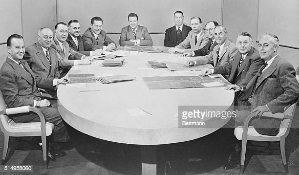 Cabinet of the Ford Motor Empire Dearborn Michigan Photographed together here for the first time are the members of the Policy Committee of the Ford...