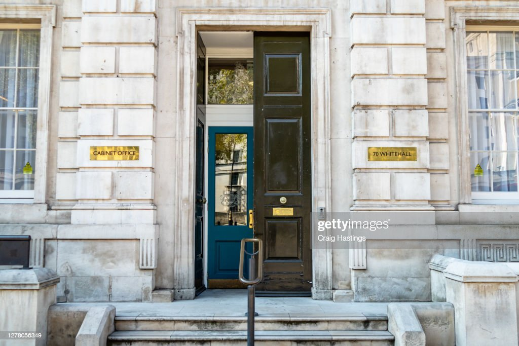Cabinet Office and Whitehall Street Entrance : Stock Photo