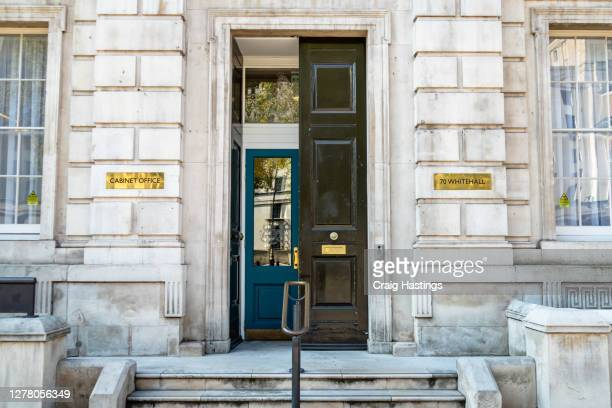 cabinet office and whitehall street entrance - politics stock pictures, royalty-free photos & images