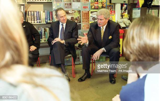 Cabinet Office Minister Dr Jack Cunningham and Antidrugs Coordinator Keith Hellawell during a visit to Camden School for Girls in London The school...