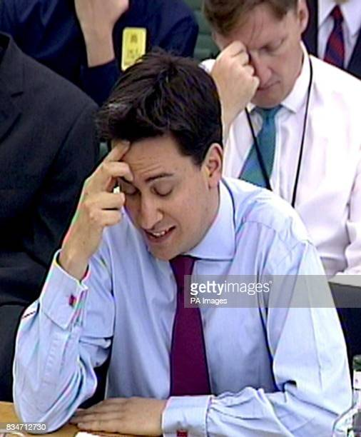 Cabinet Office Minister Ed Miliband speaks at the Public Administration Committee on government data losses in the Wilson Room House of Commons