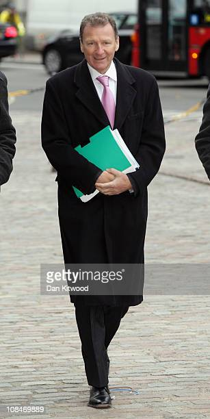 Cabinet secretary Sir Gus O'Donnell arrives at the Queen Elizabeth II Conference Centre to give evidence at the Iraq inquiry on January 28 2011 in...