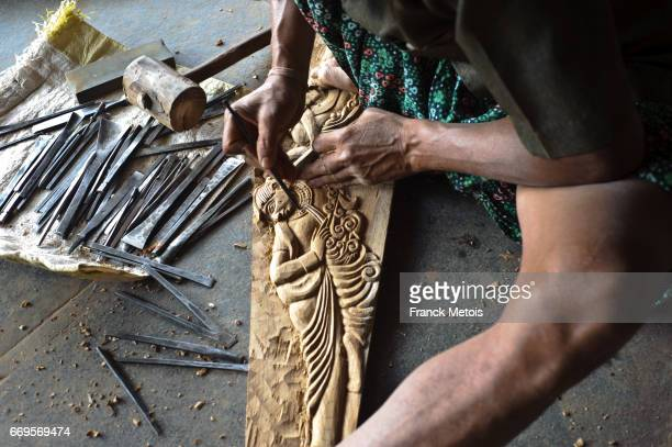 Cabinetmaker at work ( Jagdalpur, Chhattisgarh state, India)
