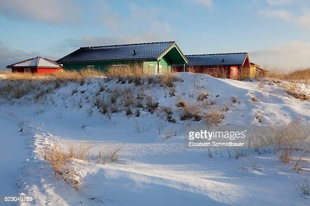 Cabins, dune, Helgoland, Schleswig-Holstein, Germany, Europe