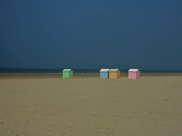 Cabins on beach at Berck