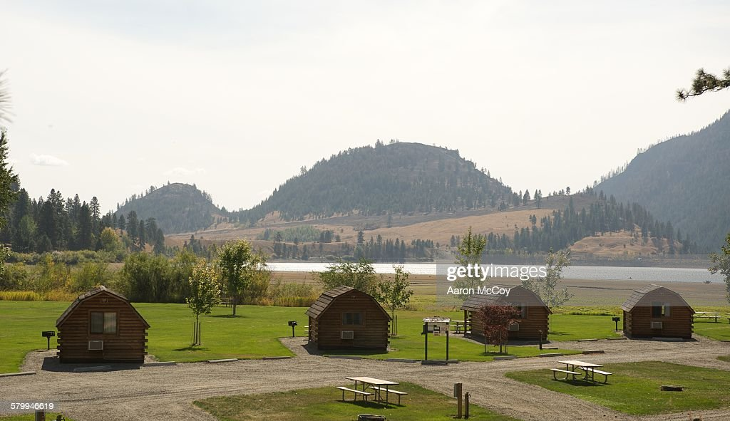 Cabins on Conconully : Stock Photo