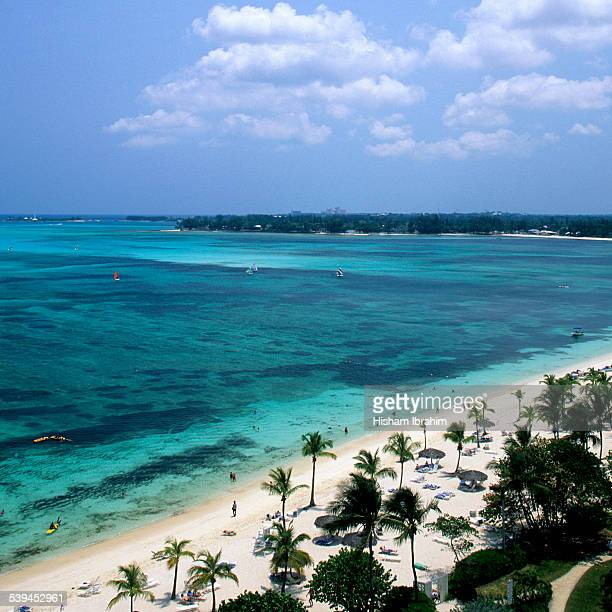 cable beach, nassau, bahamas - cable beach bahamas stock photos and pictures