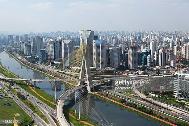 Cable bridge in Sao Paulo, Brazil